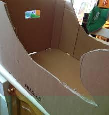 Cardboard Box Sled Design How To Make A Cardboard Santa Sleigh Out Of Cardboard