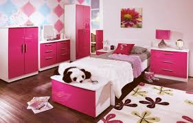 Bedroom:Pink Bedroom Designs For Adults Gray Fur Rug On Floor Drawer Desk  Between Bed