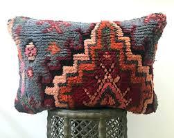 red moroccan trellis rug pillow