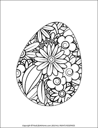 If you would like to print the picture to color with crayons, simply save it, then print it, before coloring online. Easter Egg Coloring Pages Free Printable Easter Egg Coloring Book