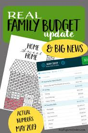 Family Budget For A Month Real Family Budget Update May 2019 With Big News Six