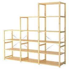 closet storage shelves unit 3 section shelving unit untreated solid pine is a durable closet rod