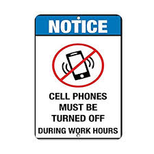 Amazon Com Victorjoan Notice Cell Phones Must Be Turned Off