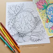 Small Picture DIY Printable Coloring Page You Are Strong Adult Colouring
