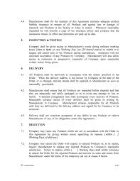 The supply and purchase of products clause in a supply agreement stipulates that the supplier will supply the purchaser's requirements for products. Manufacture Supply Agreement Template Contractstore
