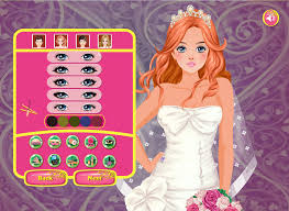 happy wedding dress up and make up game for kids who love wedding and fashion