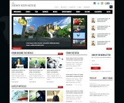 Free Html Newspaper Template Template For News Website Best Templates Channel Wordpress