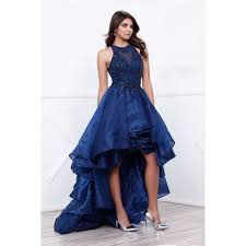 2017 Affordable Navy High Low Prom Dress Evening Gown Frugal Mughal