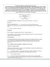 Performance Contract Template 2 Free Templates In Pdf
