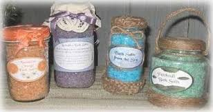 Decorative Jars For Bath Salts Homemade Bath Salts in Decorated Glass Jars 1