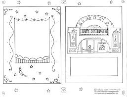 Small Picture Printable Birthday Card to Color