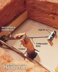 install a fan brace