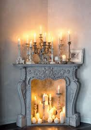 Decorating: Simple White Candle Fireplaces - Fireplace Ideas