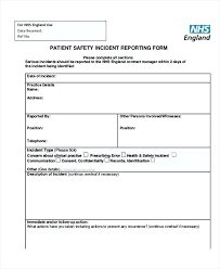 Serious Incident Report Template