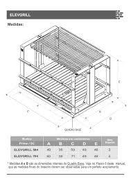 Churrasqueira em tijolo refratário e betão, para carvão e lenha, recomendado para 10 pessoas. Manual Para Churrasqueira De Alvenaria Elevgrill 584 704