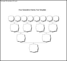 Family Tree Diagram Printable Chart Three Generation Template Free ...