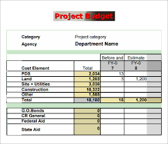 simple project budget template