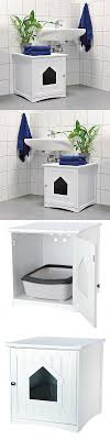 litter box furniture cat enclosed covered. litter boxes 100411 enclosed cat box furniture hidden wooden covered white kitty enclosure t