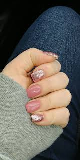 Short Nail Designs With Glitter Eagermomfitness Acrylic Nails Pink Sparkle Short