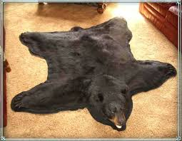 bear rugs for black bear grizzly kodiak