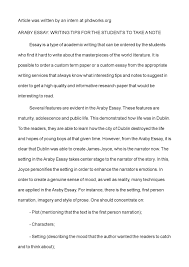 calam atilde copy o araby essay writing tips for the students to take a note