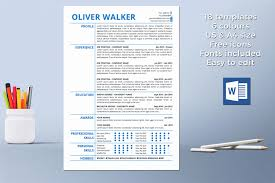 Original Resume Template Modern Cover Letter Unique Resume Template Instant Download Cv 43