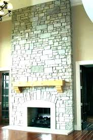 faux rock fireplace fake for stone facade s mantels makeover editor complete fake stone fireplace