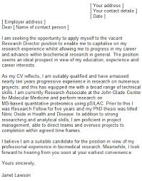 Sample Research Cover Letter Scientist Cover Letter Sample Ideal For All Sciences