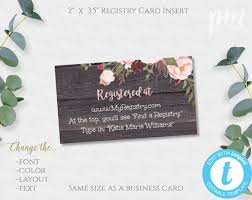 Registry Insert Card Template Rustic Floral Baby Shower Instant Download Baby Shower Printable Baby Registry Editable Template Bsrf
