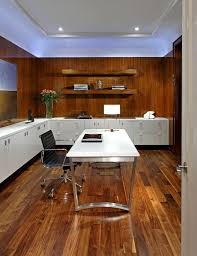 office paneling. Dark Wood Floors Decorating Ideas Home Office Contemporary With White Flush Cabinets Cove Lighting Paneling