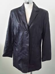 details about terry lewis classic luxuries genuine leather blazer jacket size small