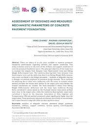 Road Foundation Design Pdf Assessment Of Designed And Measured Mechanistic