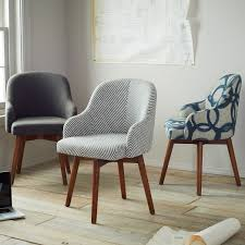 west elm office chair. i like these saddle office chairs from west elm possibly one striped and gray chair
