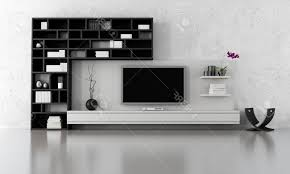Living Room, Creative Tv Stand Ideas Brown Varnished Wood Wallpaper Creamy  Laminated Flooring Black White