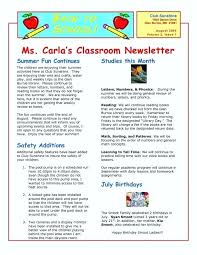 Monthly Newsletter Template For Teachers Trend K Newsletter Templates For Free Editable Classroom Template