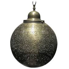 brass moroccan round pendant chandelier for