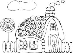 Small Picture Tasty Cookie Gingerbread House Coloring Page NetArt