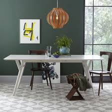 parker mid century expandable dining table west elm