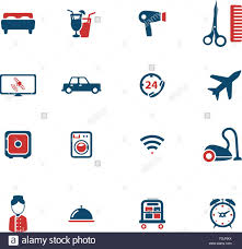 A Hotel Simply Hotel Simply Icons Stock Vector Art Illustration Vector Image