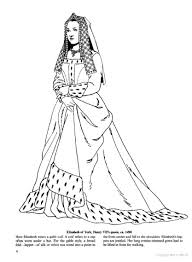 Small Picture Elizabeth of York 1490 Coloring Page Historical Fashion Coloring
