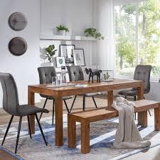Tischsets Holztisch Mit 4 Stühle Möbel Set Weiß Tisch Esstischset