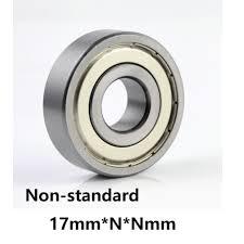 Us 1 95 15 Off Non Standard Deep Groove Ball Bearing Inner Diameter 17mm Outer Diameter 23 26 28 30 31 32 35 40 42 44 47 52 62 52 Chrome Steel In