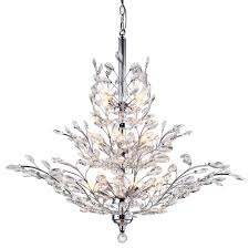 13 light crystal chandelier light chrome finish with european crystals