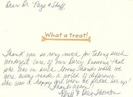 testimonials client appreciation letters veterinarians thornton thank you note