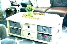coffee table with storage baskets baskets under coffee table karenpereirainfo square coffee table with storage baskets