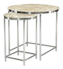 small round lamp tables coastal beach round shell nesting side tables set of small black glass