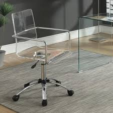 Image Wheels Reese Warehouse Coaster 801436 Office Chairs Acrylic Office Chair With