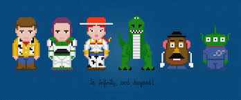 Cross Stitch Patterns From Pixelpower Toy Story Characters