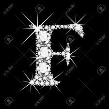 F P Lexile Conversion Chart F Letter With Diamonds Bling Bling