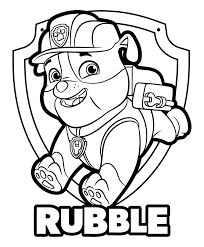 Chase Paw Patrol Free Coloring Pages With Plus Everest Printable